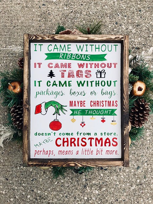 The Grinch Christmas quote
