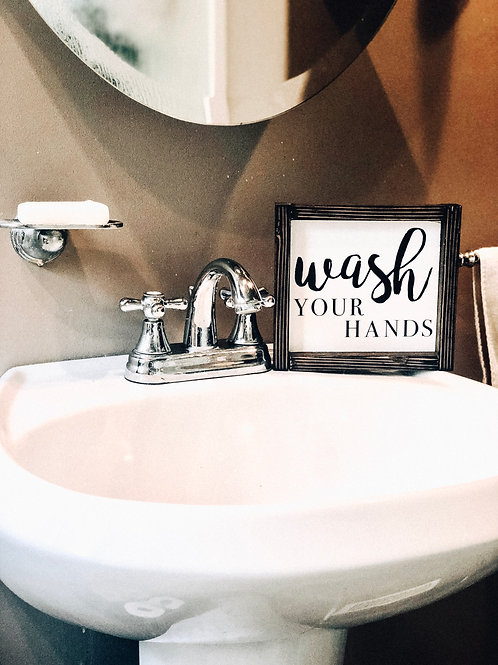 Wash Your Hands Mini Sign