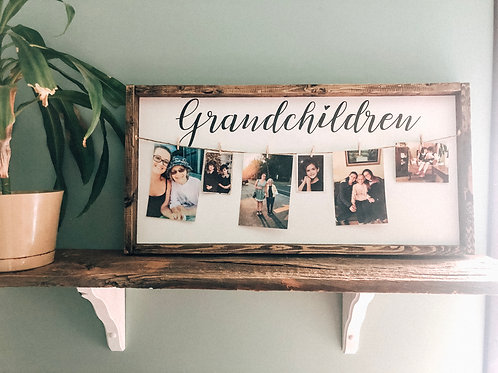 Grandchildren Sign w/ Photo Clips