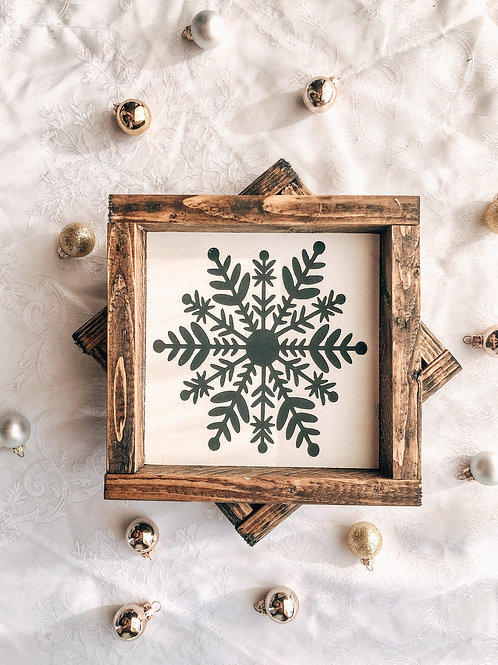 Mini Snowflake (Black or White)