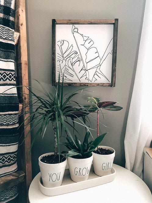 Minimalist Palm Leaves