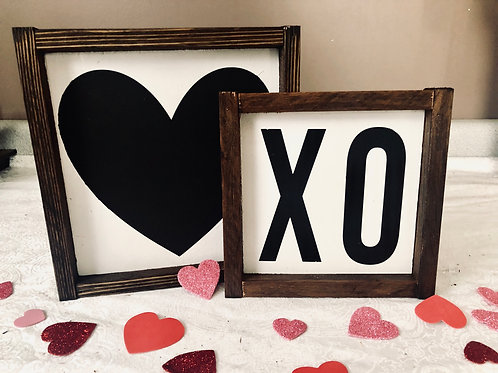 XO & Heart Mini Signs