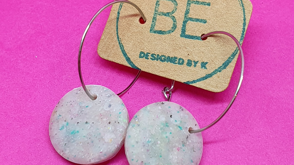 Be Scrappy Small Round Hoop Dangle