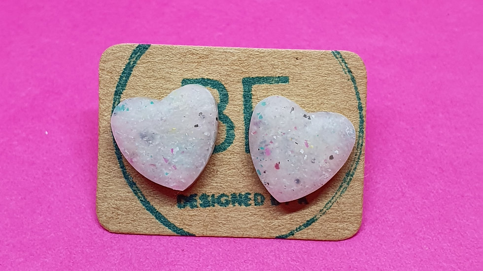 Be Scrappy Heart Studs