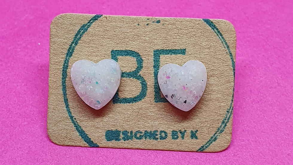 Be Scrappy Heart Studs (extra small)