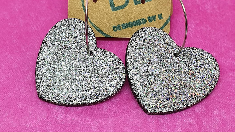Glitter a Go-Go Large Heart Dangles