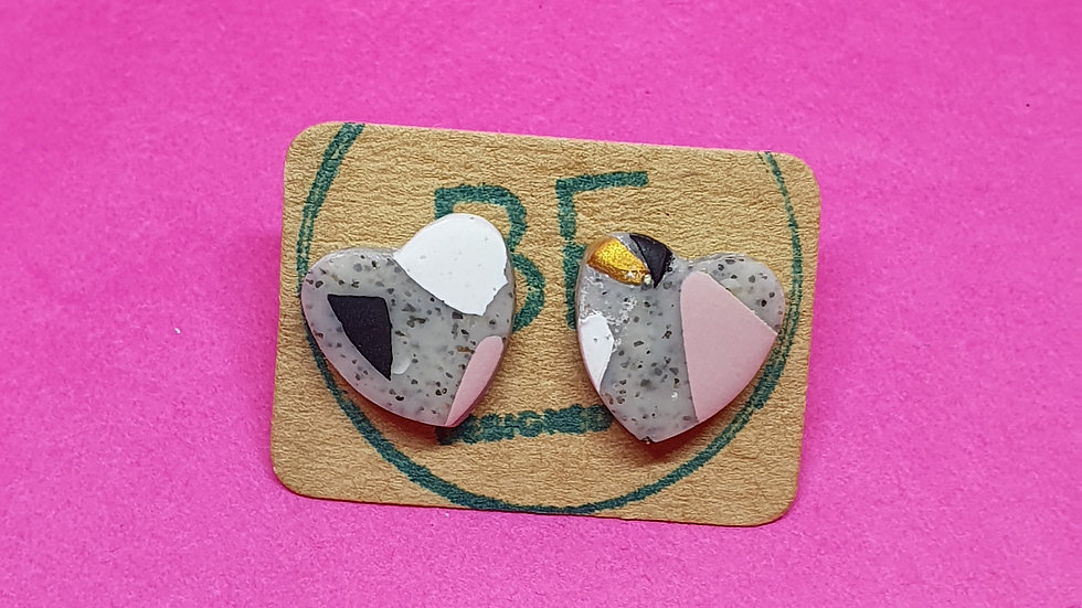 Be Kind Small Heart Studs