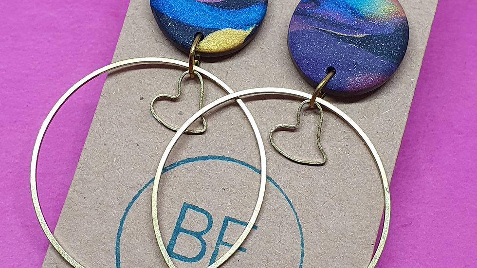 Jewel Marbled Hoop Dangle 2