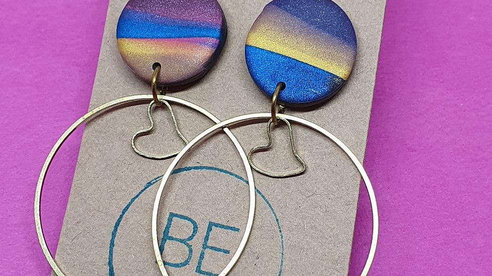 Jewel Marbled Hoop Dangle 3