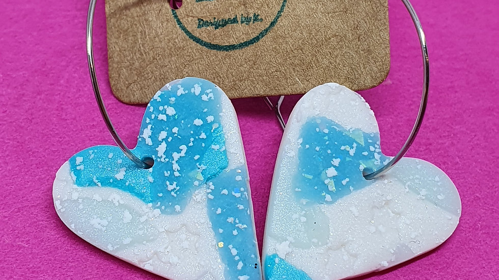 Icy Heart Dangle