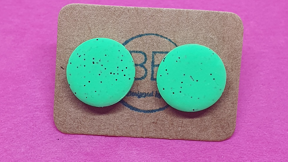 Neon Webs Small Green Round Studs