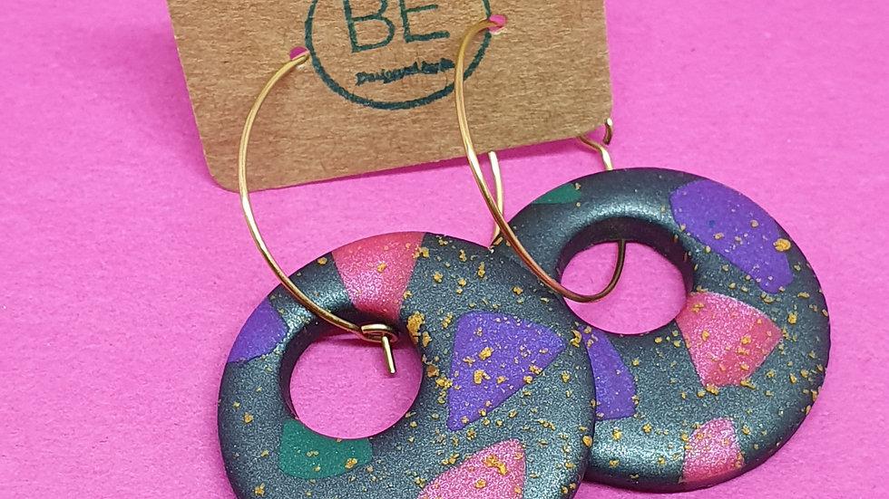 Sprinkled Jewel Hoop Drops