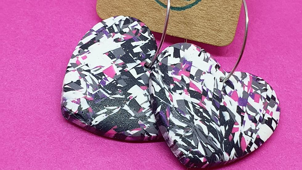 Pink Pixel Heart Dangle