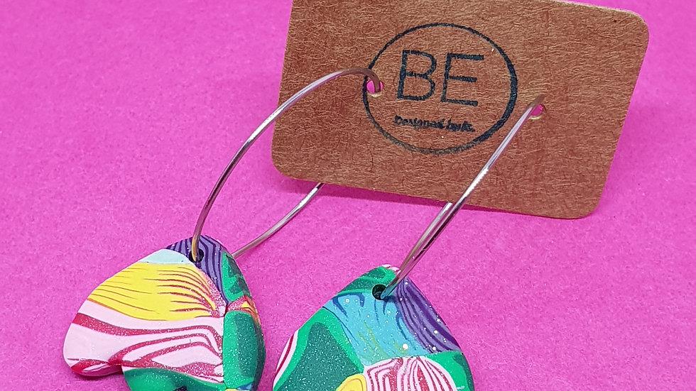 Confetti Remix Petal Hoop Dangles