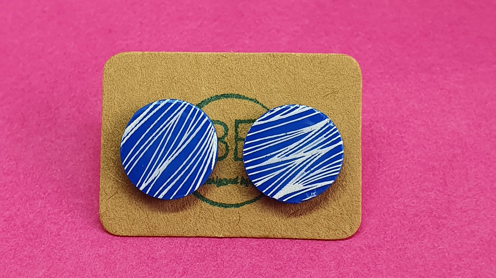 Cobalt Waves Small Studs