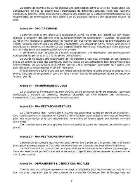 Réglement Intérieur page 7