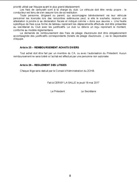 Réglement Intérieur page 8