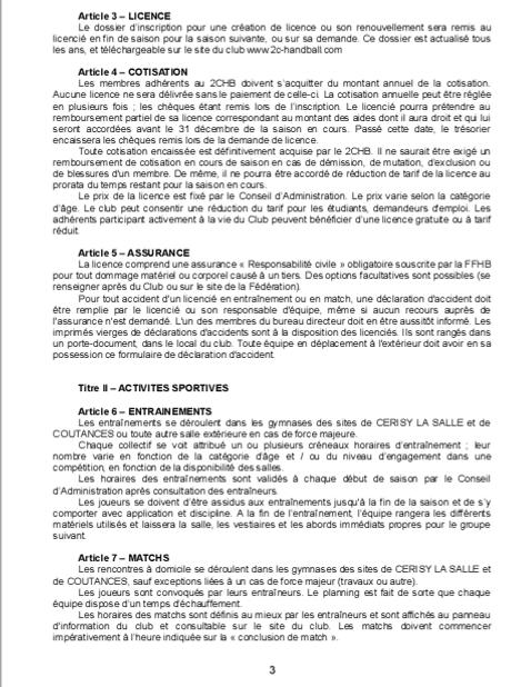 Réglement Intérieur page 3