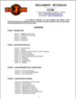 Réglement Intérieur page 1