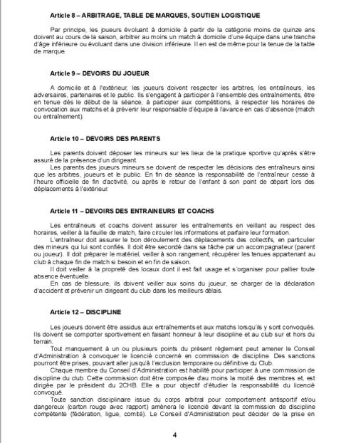Réglement Intérieur page 4