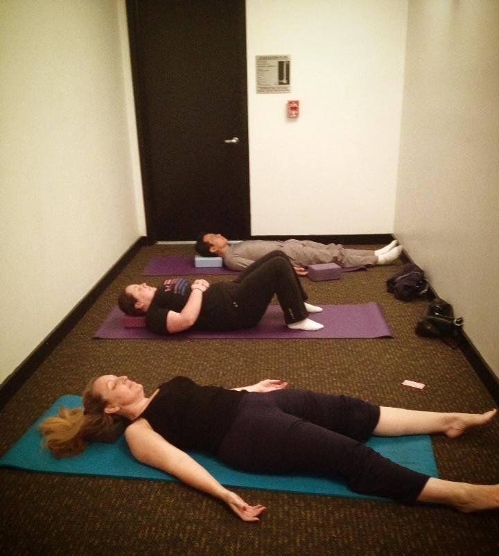 Hallway yoga