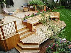 Crown Fence and Custom Decks installs wood decks throughout Bowie, Upper Marlboro, Clinton, and Crofton Maryland