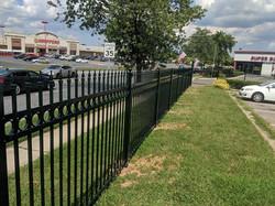 Green Ornamental Aluminum Fence Clinton.