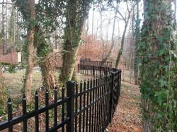 Ornamental Iron Property Fence