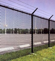 Galvanized Security Chain Link Fence