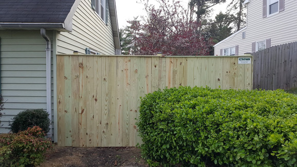 Solid Board Privacy Fence Bowie