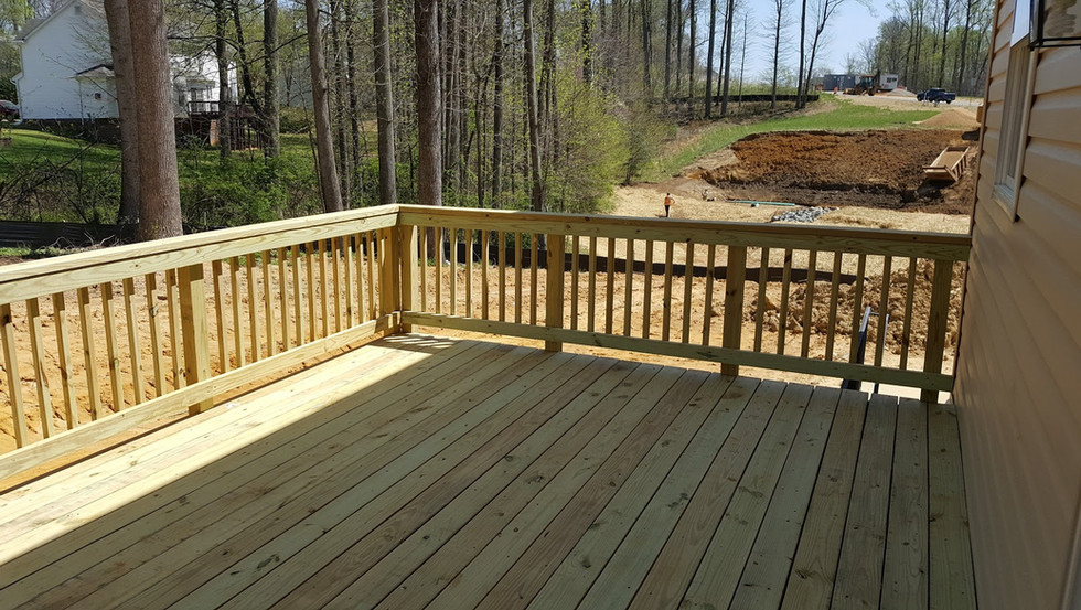 Wood Deck Pressure Treated White Plains1