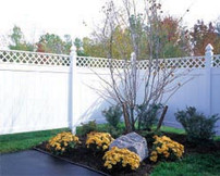 Charming Decorative Privacy Fence