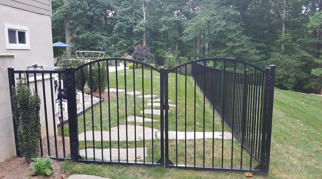 Black Ornamental FenceGate Crownsville.j