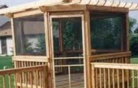 Crown Fence and Custom Deck Enterprises also installs screened in porches as well as fences and decks