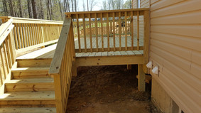 Pressure Treated Wood Deck and Stairs White Plains