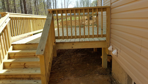 Wood Deck Pressure Treated White Plains3