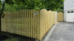 Pressure Treated Wood Semi-Privacy Board