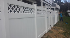 White Composite Fence
