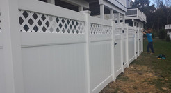 White Composite Fence