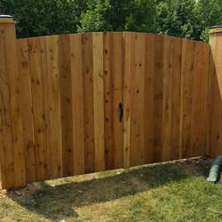 Privacy 6' Cedar Solid Board Gate Ar