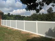 Gray White Vinyl Fence Upper Marlboro