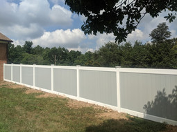 Gray White Vinyl Fence Upper Marlboro