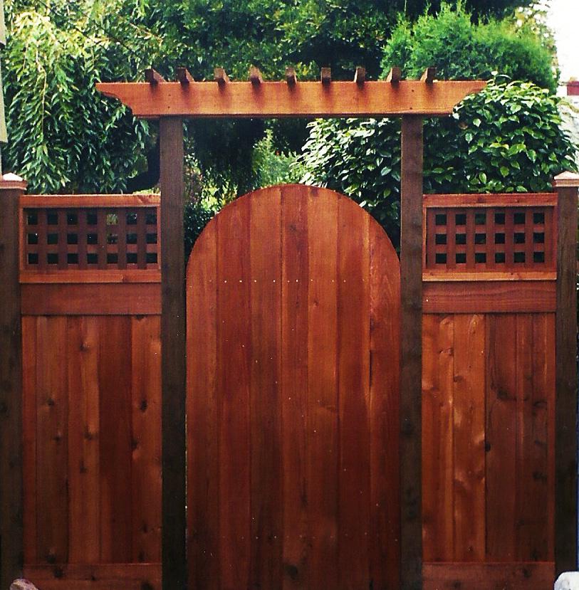 Arbor Western Cedar Fence Gate