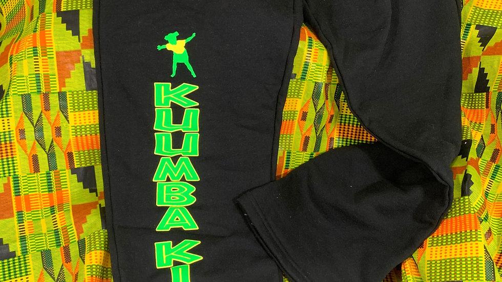 Kuumba Kids Black Open Bottom Sweat Pant