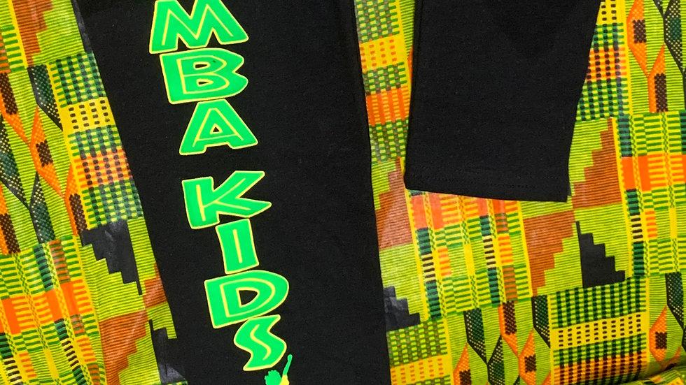 Kuumba Kids Black Leggings