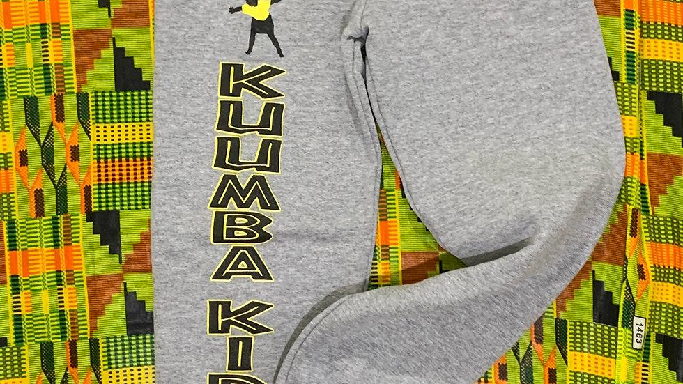 Kuumba Kids Gray or Black Sweatpants Elastic leg