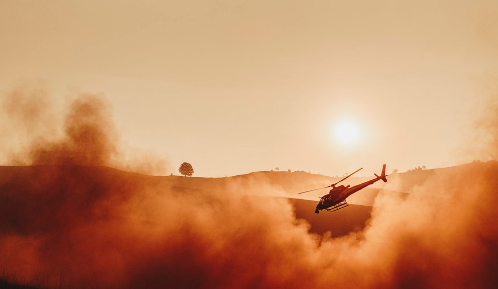 Helicopter filming South Australia