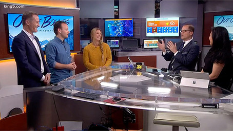 Director Caspar Mazzotti & Olympic Star Torah Bright Join King 5 News in this Featured Spot!