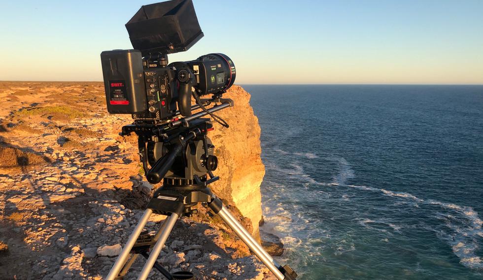 Camera on cliff edge