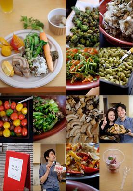 福島の春の食材を使った、身体にやさしい家庭料理風ランチ